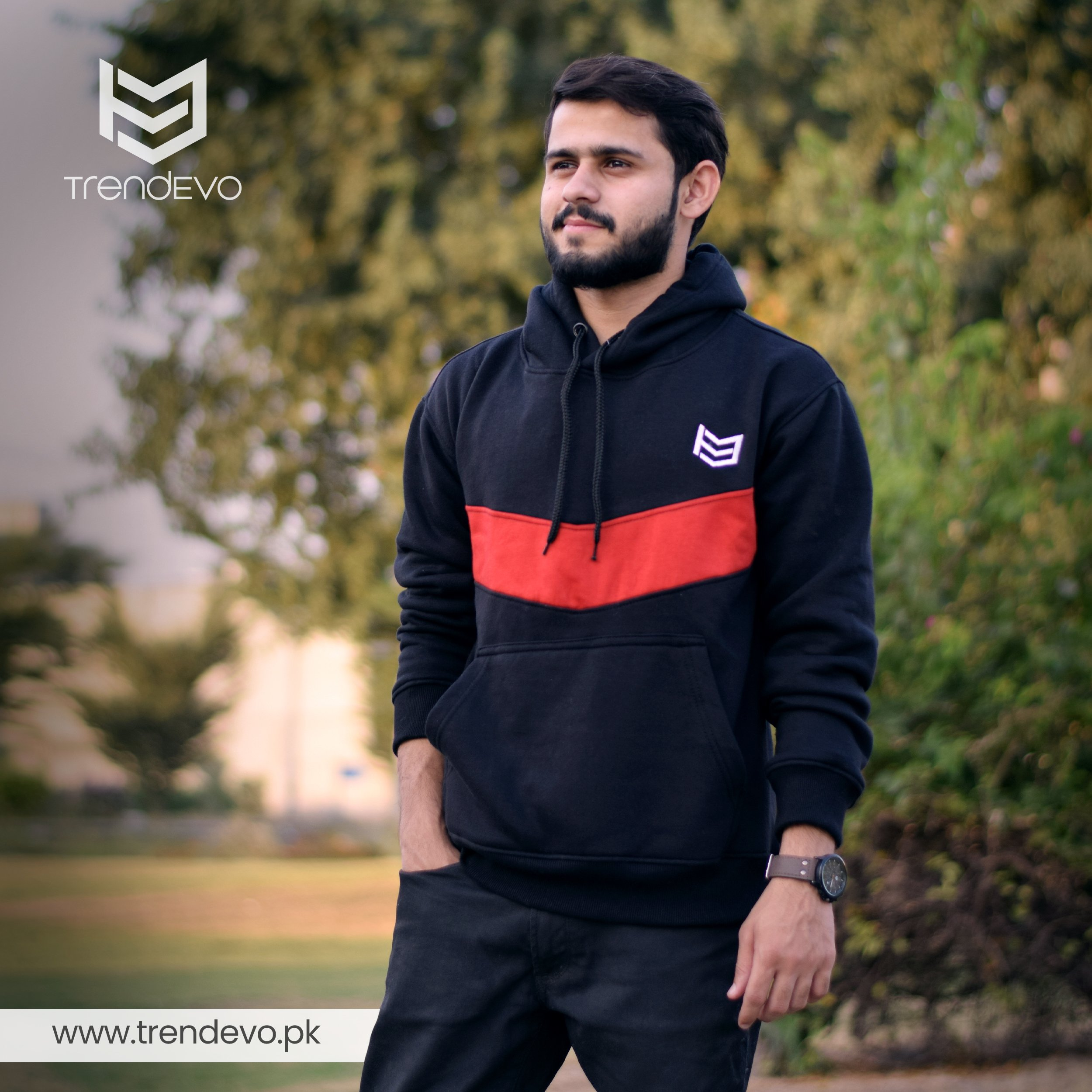 Black and Red TrendEvo Hoodie Photo